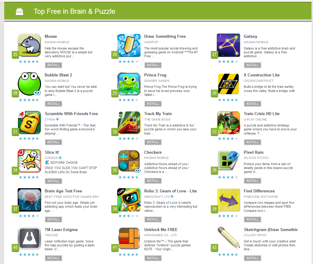 TMMP – Android games » Blog Archive » TM Laser Enigma Top 40